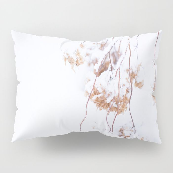 Snowy Hydrangea On A Snow Background #decor #society6 Pillow Sham