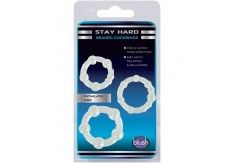 Blush Stay Hard Beaded Cock Rings 3 Pack Clear -  http://blushnovelties.com/index.php