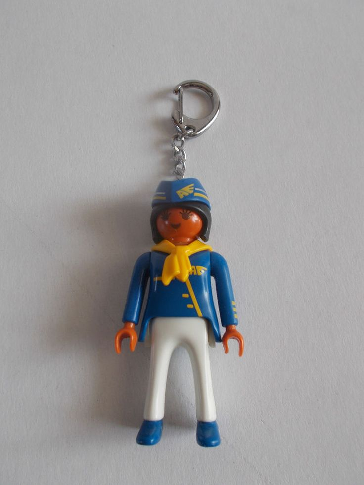 Vintage Lyra Playmobil Hostess Keychain made in Greece