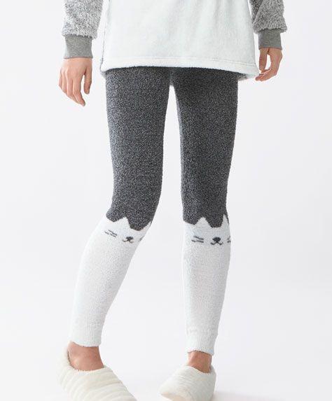 PYJAMAS - Pyjamas Polaires - Dernières tendances Automne Hiver 2016 en mode femme chez OYSHO online : lingerie, vêtements de sport, pyjamas, bain, maillots de bain, bodies, robe de chambre, accessoires et chaussures.