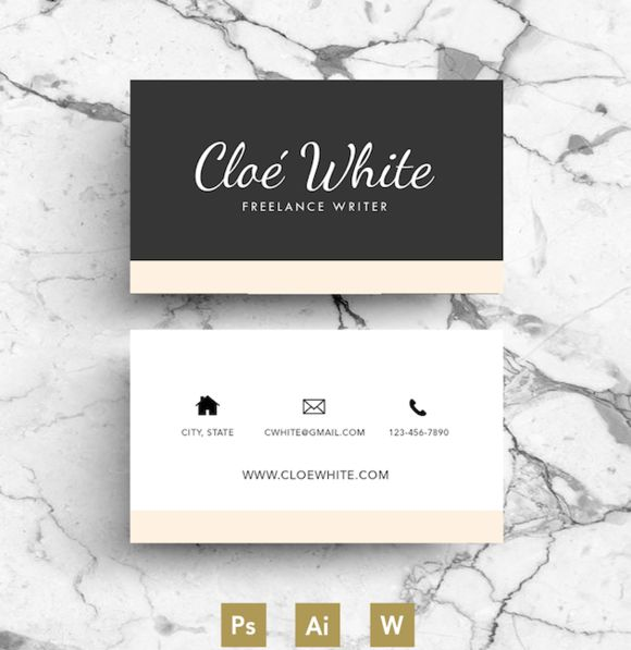 Business Card / Creative Template by Emily's ART Boutique on @creativework247