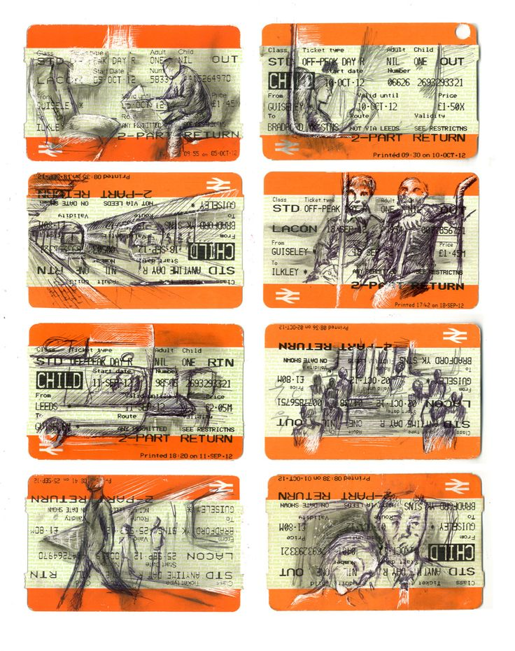 Through drawing on train tickes I wanted to connect the offical documention with…