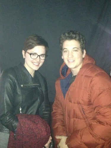 Miles Teller and Veronica Roth