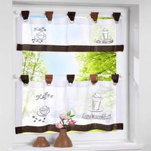 Beatiful café cortinas da cozinha fita cortina da janela de plástico transparente altura haste haste ajustável cortinas romanas sete cores(China (Mainland))
