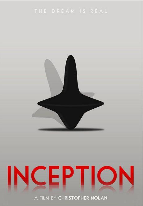 Inception (2010) ~ Minimal Movie Poster by Polar Designs #amusementphile