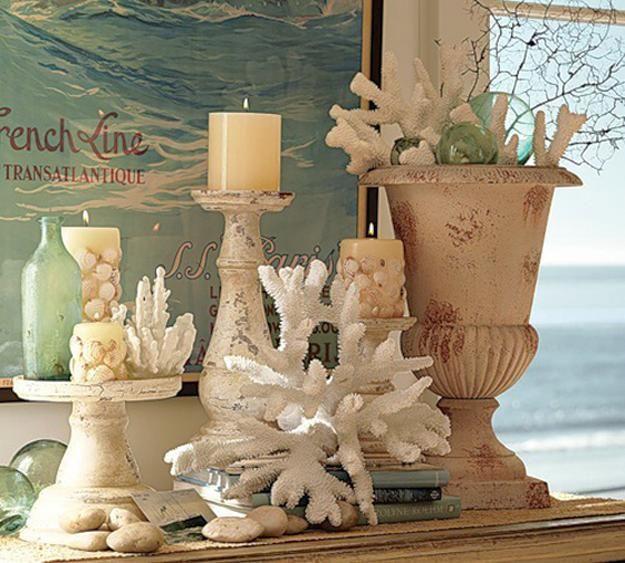 Shells Decor Ideas Ocean Theme Beach House Beach Decor Sea