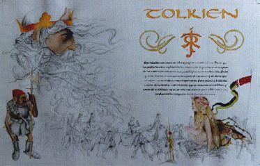 """Técnica Mixta: Grafito, Tinta y Transferencia """"Tolkien.. Una gran y tremenda inspiración :)"""""""