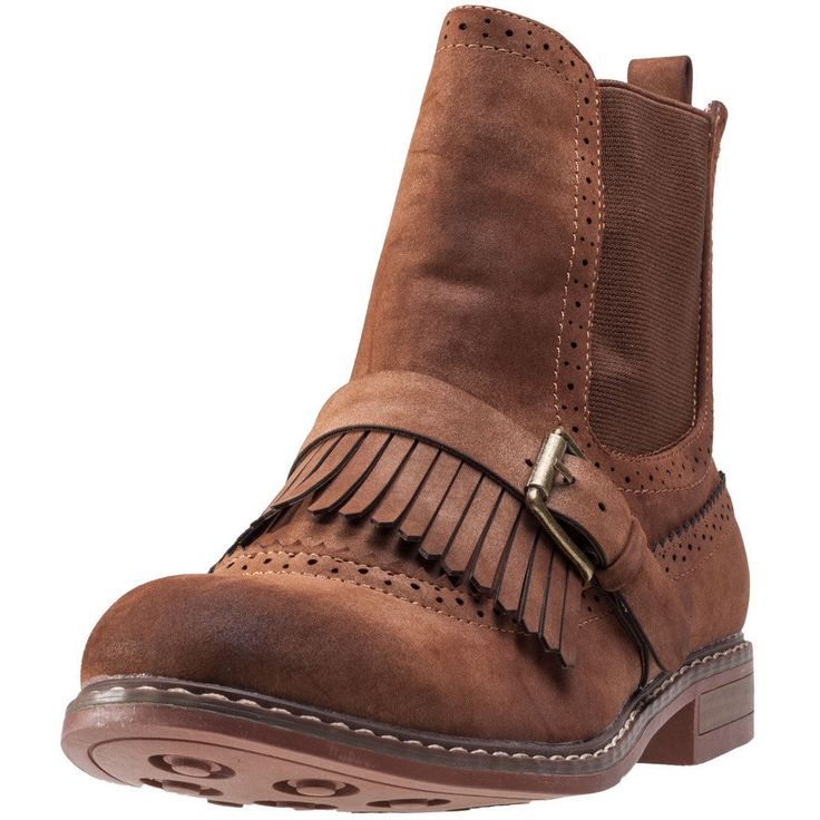 Kidderminster F50568 Womens Chelsea Boots Tan Shoes