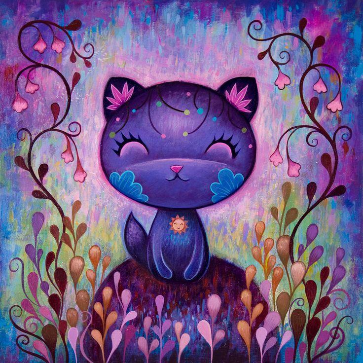 Jeremiah Ketner: Flower Kitty - Fine Art Print, Signed