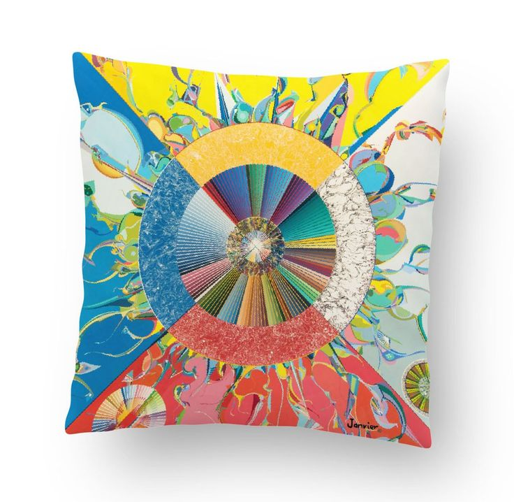 Alex Janvier Morning Star Cushion Cover - Available Apr 2017