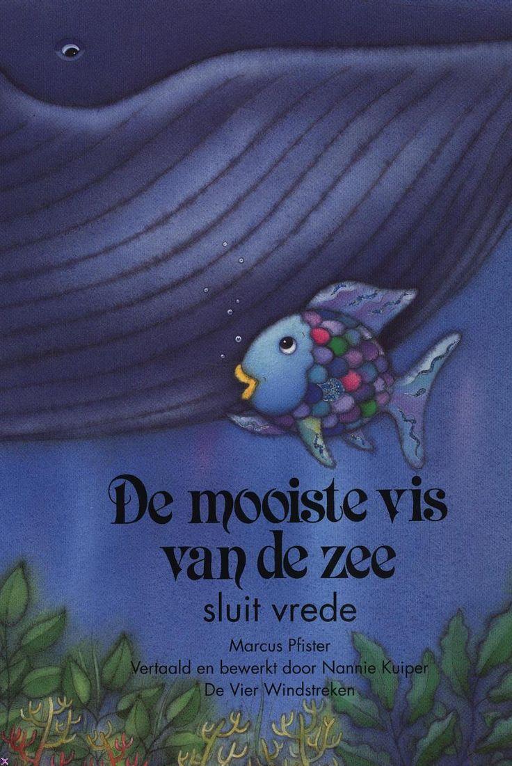 De mooiste vis van de zee sluit vrede. Een prentenboek voor kleuters. Komt die grote walvis het eten van de kleine visjes stelen? Door te praten lost Regenboog misverstanden op.