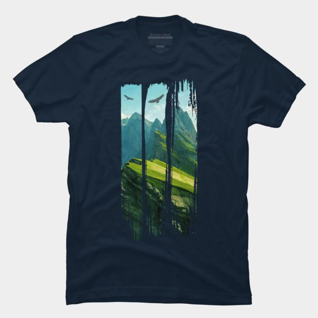 Sunset Mountains Graphic Tee Men/'s Image by Shutterstock