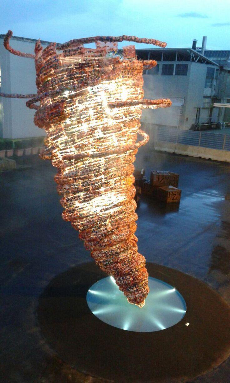 Vortice, Installazione site specific di Maria Cristina Finucci. Mostrami Factory @ Folli 50.0