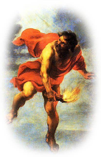 """Prometeu şi apariţia omului   Apariţia omului a fost legată de voinţa şi acţiunea Titanului Prometeu care în limba greacă înseamnă """"providenţa zeilor"""" (pronianteu)[...]   dezvaluiribiz.ro"""