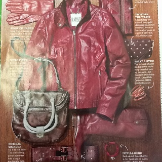 Love the red! This jacket and boots are awesome.Red, Style, Awesome, Jackets, Boots
