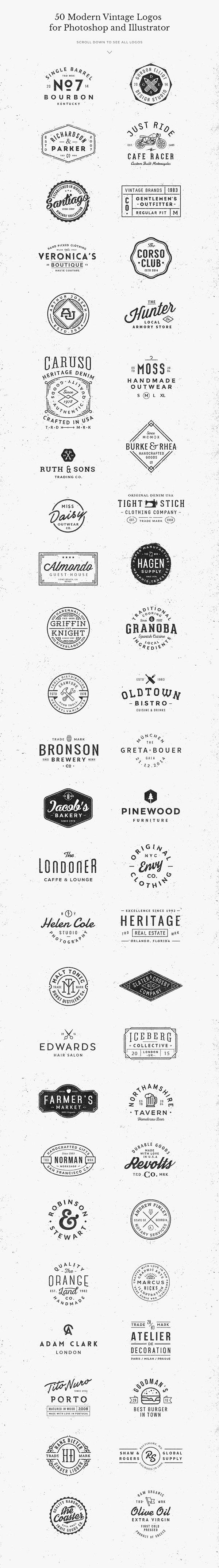 50 Logo Templates Bundle on Behance