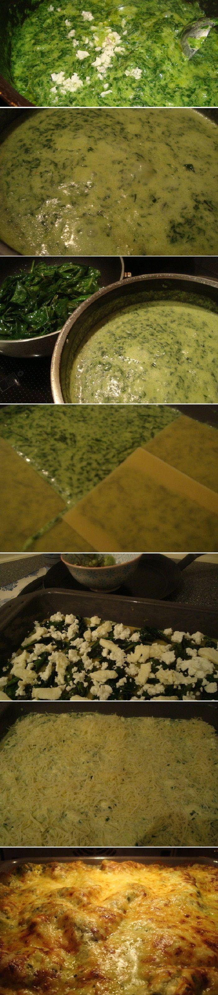 Spinach Feta Lasagna Recipe