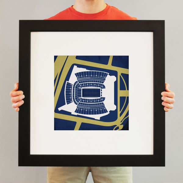 Heinz Field located in Pittsburgh, Pennsylvania and used for University of Pittsburgh. | College football prints from City Prints put you back in the stands on Saturdays. City Prints look like modern art and remind you of the unforgettable moments you experienced in your favorite seats