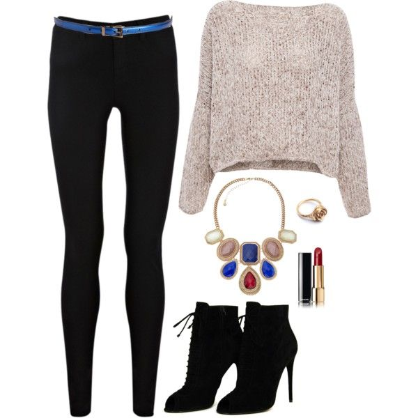 A fashion look from April 2014 featuring Pull&Bear sweaters, Oasis jeans and Tom Ford ankle booties. Browse and shop related looks.
