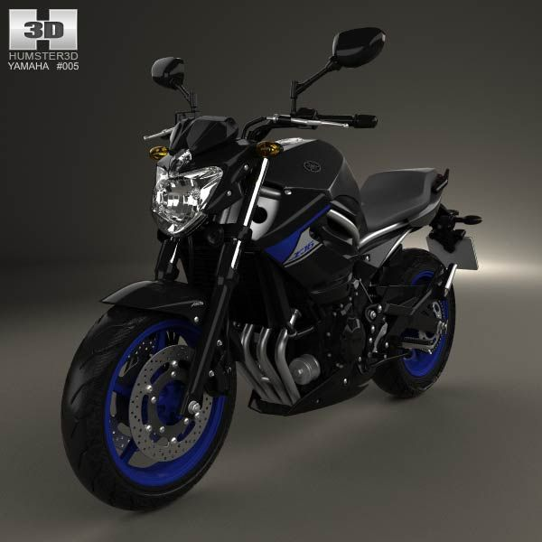 yamaha xj6 2014 3d model models and 3d. Black Bedroom Furniture Sets. Home Design Ideas