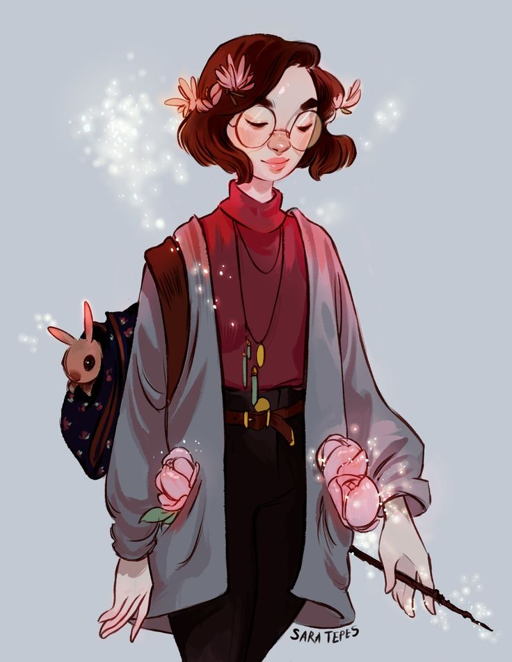 "sarucatepes: "" I never post on Tumblr -_- Here's a witchsona I did of myself a while ago. I can't wait till my hair grows out to this length again. """