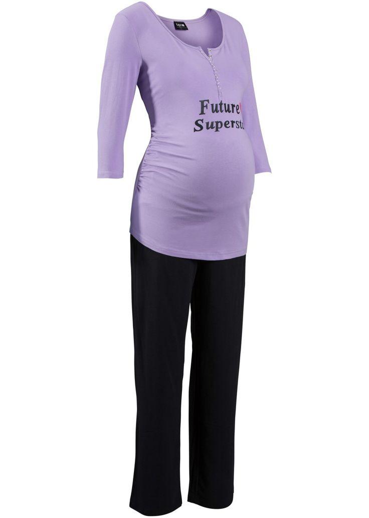 Bronprix - Bekijk nu:Supercomfortabele pyjama van het merk Nice Size voor zwangere vrouwen en kersverse mama's. Het shirt met knoopsluiting kan moeiteloos geopend worden voor borstvoeding en is afgewerkt met een originele print. Modieuze plooitjes zorgen voor een fraaie look. Heel comfortabele broek met bijzondere band. Tijdens de zwangerschap wordt de band over de buik gedragen voor extra steun en na de geboorte wordt de band omgeslagen.
