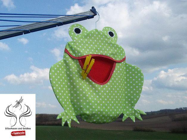 Wäscheklammerbeutel Frosch http://de.dawanda.com/product/74591171-waescheklammerbeutel-frosch-lindgruen