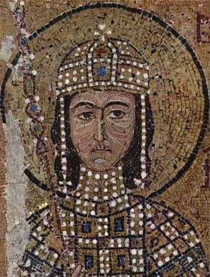 Alexius II, Byzantine co-Emperor with his father John II , ca. 1122-1142, detail,    Hagia Sophia, Istanbul