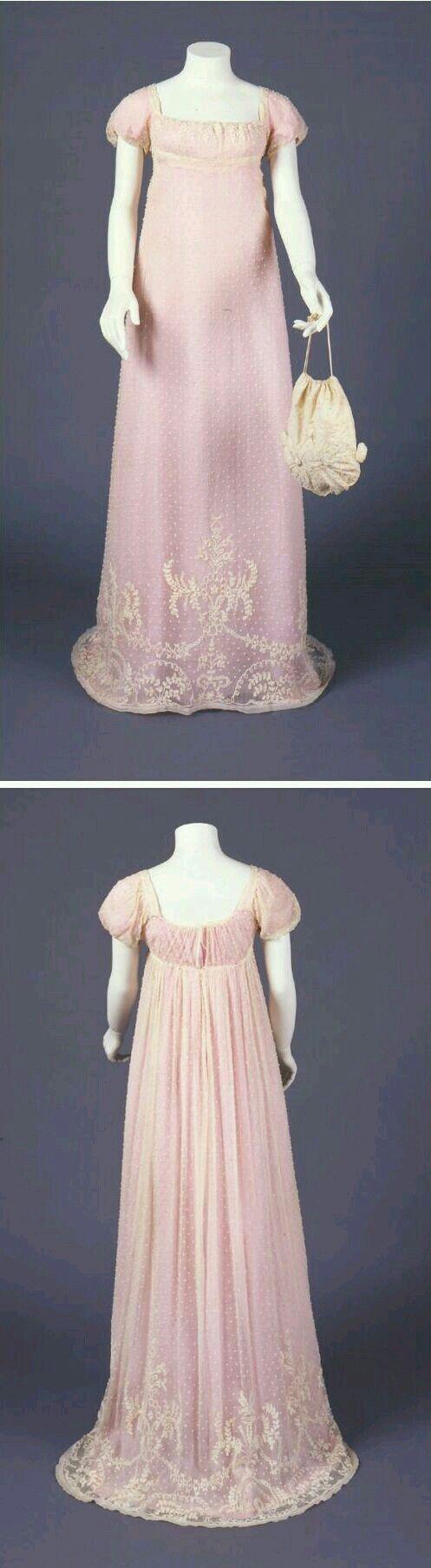 Regency gown and reticule