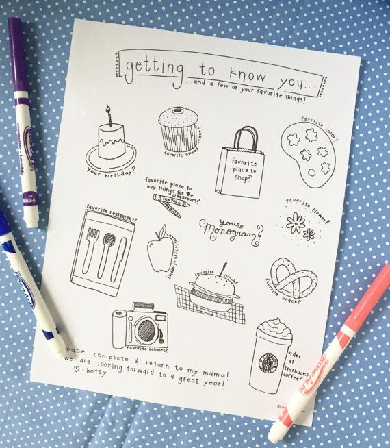 the getting to know you questionnaire  instant by lovelucydesign