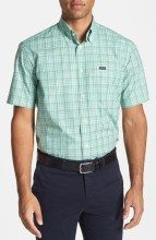 674ace32125 Faconnable Classique Fit Plaid Short Sleeve Sport Shirt mens short sleeve  dress shirts gifters.com