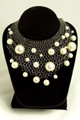 Chainmaille Necklace:  this is interesting reminds me of the universe....or bubbles  :)