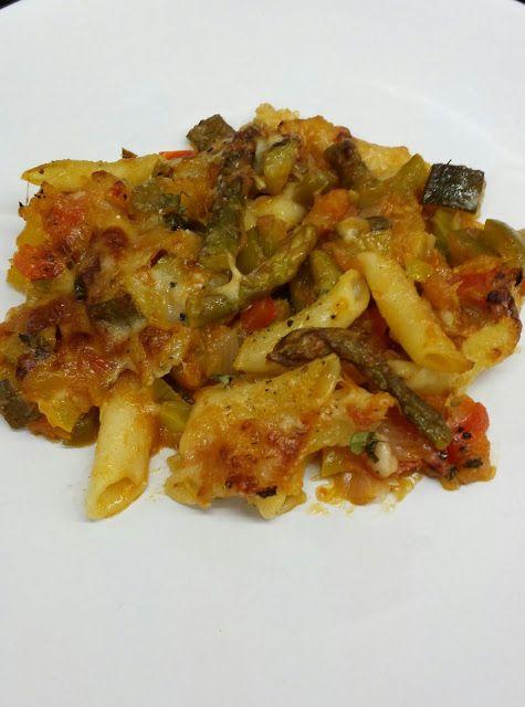 Cocina Basica y Fresca: MACARRONES GRATINADOS A LA JARDINERA. CBF@