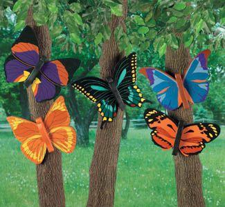 Woodcraft Ideas | Yard Art Woodcraft Plans - Bright Butterflies #2 Wood Pattern