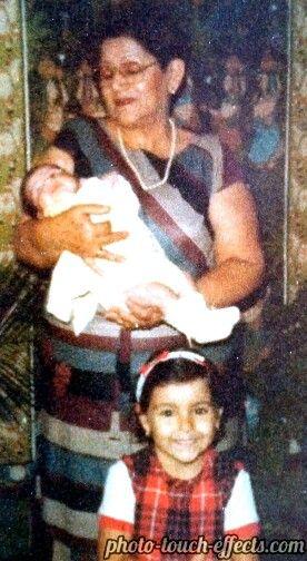 Mi madre y sobrinas...