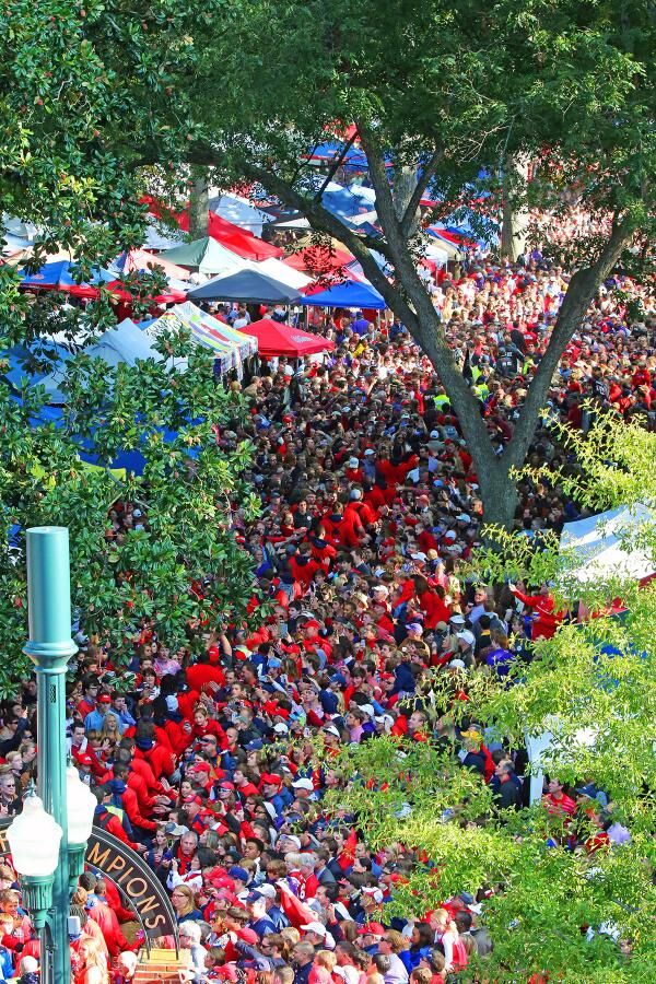 Walk of Champions through the Grove on Game Day (Ole Miss vs. LSU 2013) via OleMissPix