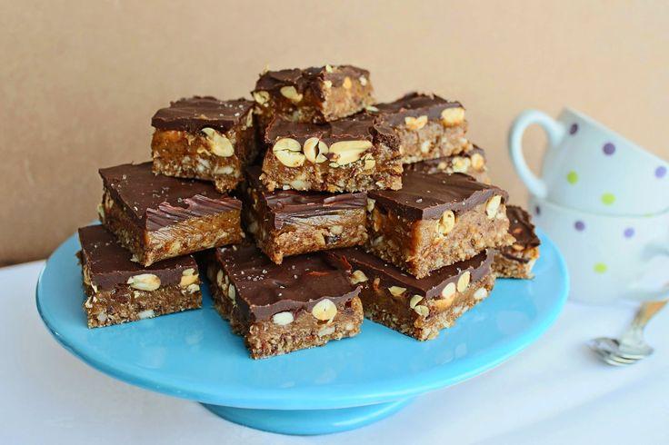 Melinda na Cozinha: snickers caseiros (raw, vegano, sem glúten)