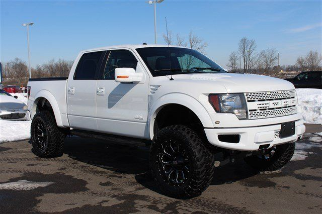 ALL of the white. It looks like a mini-semi now. Eh... Custom white Ford Raptor | 2012 Ford F-150 Svt Raptor, Oxford White In Columbus, Ohio