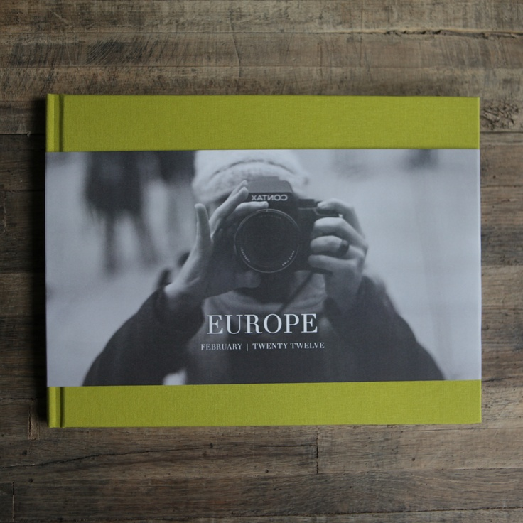 for the places you'll travel (passport not included). Hardcover photo book in lemongrass with a partial dust jacket cover. Starting at $69 at www.artifactuprising.com