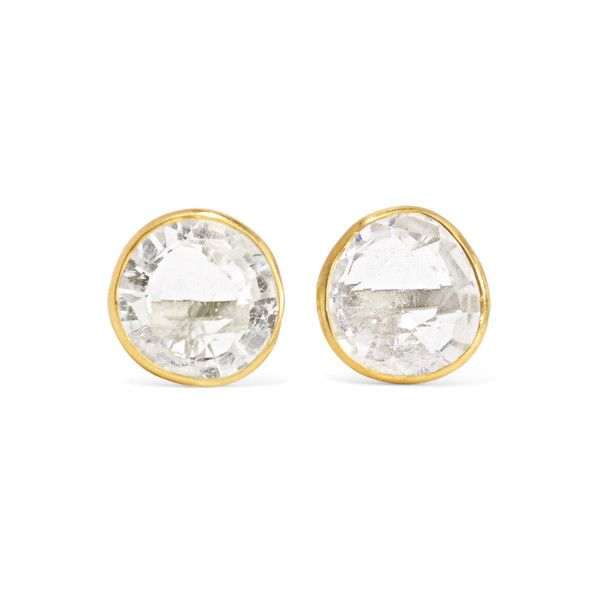 Pippa Small Pippa Small - 18-karat Gold Crystal Earrings - one size ($790) ❤ liked on Polyvore featuring jewelry, earrings, crystal earrings, pippa small jewelry, crystal jewelry, crystal stone jewelry and pippa small jewellery