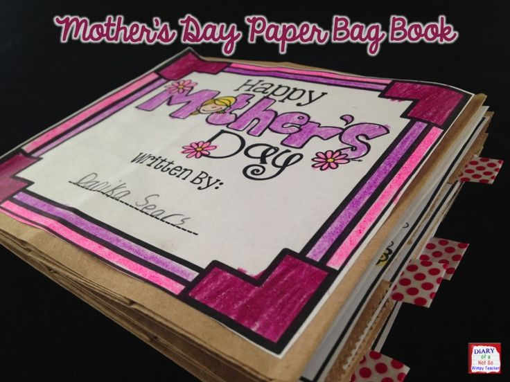 This Mother's Day paper bag book is a simple and meaningful gift for students to make for their moms this Mother's Day!