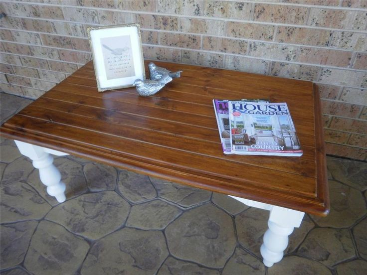 Rustic Vintage French Country Beach House Coffee Table