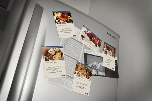 Fridge Magnet in FB Theme with Re-Writable Memo Area
