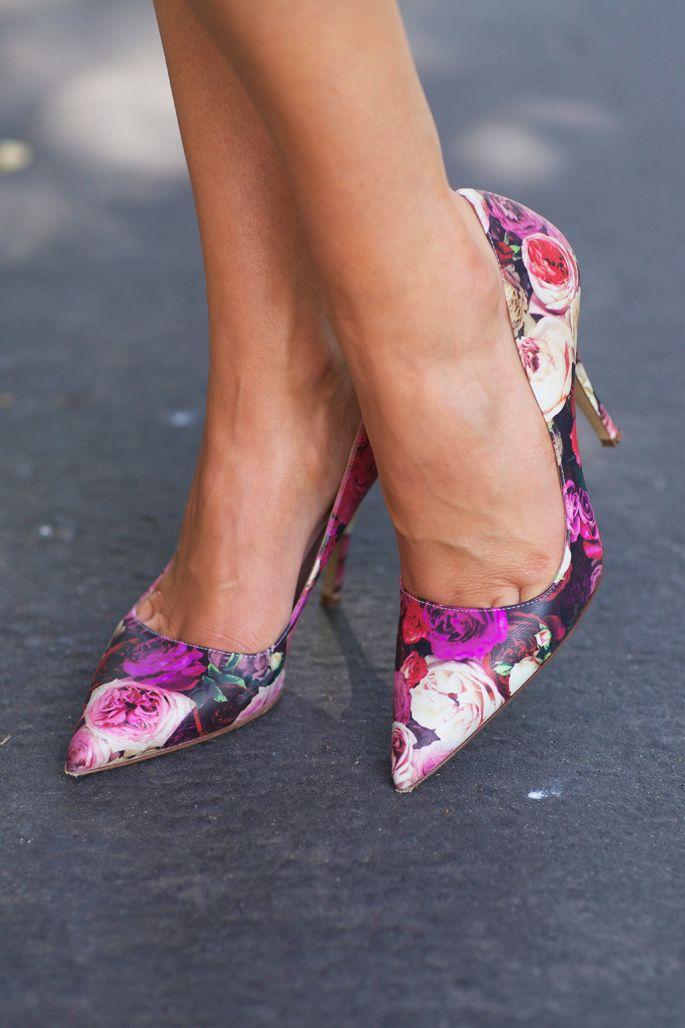 Kate Spade floral heels