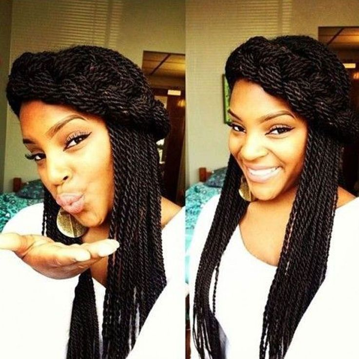 """18 Inch 8Packs Senegalese Twist Hair Crochet Braids 30Stands/Pack Synthetic Braiding Hair Extensions for Black Women (18"""" 8packs, #4)"""