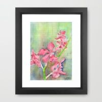 Framed Art Print featuring Red Orchid by Ewally