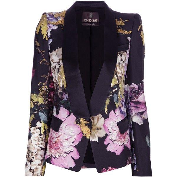 ROBERTO CAVALLI multi-coloured floral blazer ($1,895) ❤ liked on Polyvore