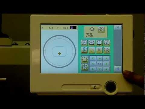 Demonstration of the new Touch Screen for Happy Embroidery Machines