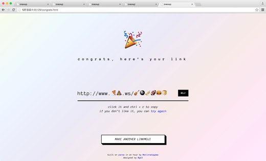 linkmoji - The emoji URL shortener (🍕💩.ws). (Web, Emoji, and Tech) Read the opinion of 76 influencers. Discover 16 alternatives like Emojili and Emojimo