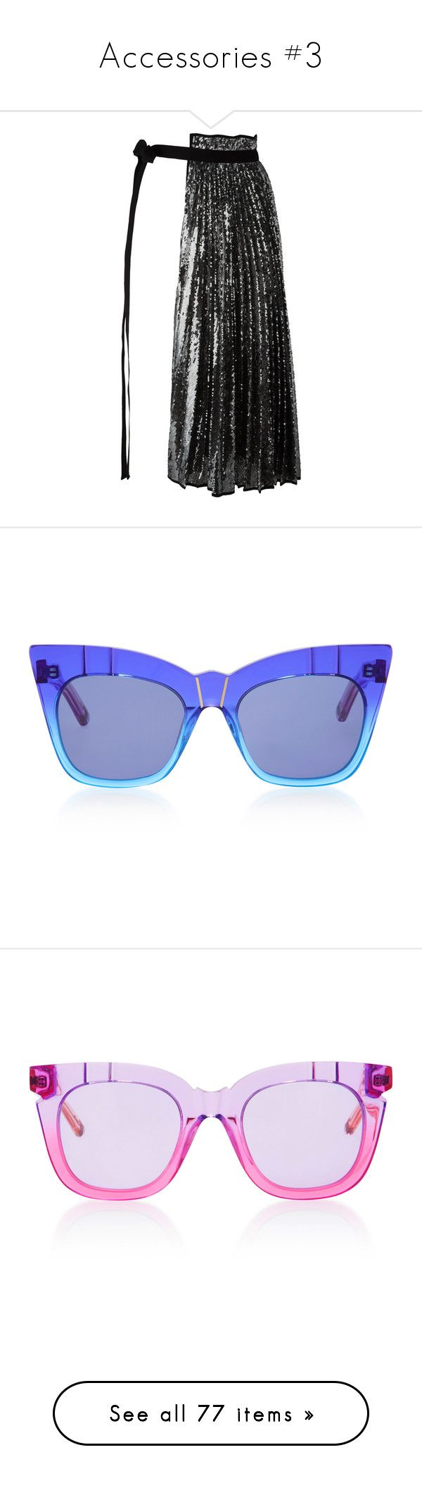 """Accessories #3"" by deborahsauveur ❤ liked on Polyvore featuring accessories, belts, skirts, black, metallic belts, tie belt, self tie belt, eyewear, sunglasses and cat-eye glasses"